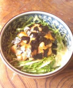 鶏照り焼きキャベツ丼9