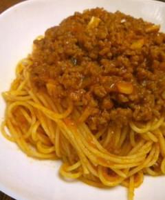 夜食用ボロネーゼスパゲティ14