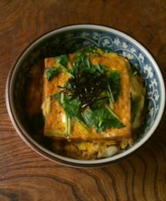 揚げ豆腐丼11