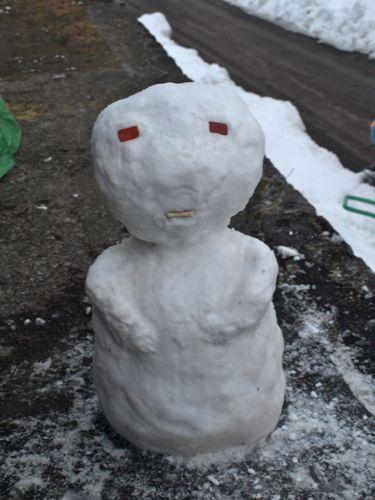 7初雪だるま