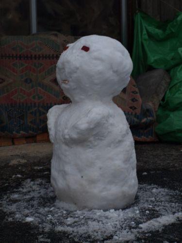 9雪だるま斜めから