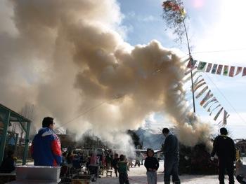 11煙がすごく上がった