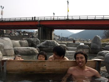 7下呂の川べり露天風呂