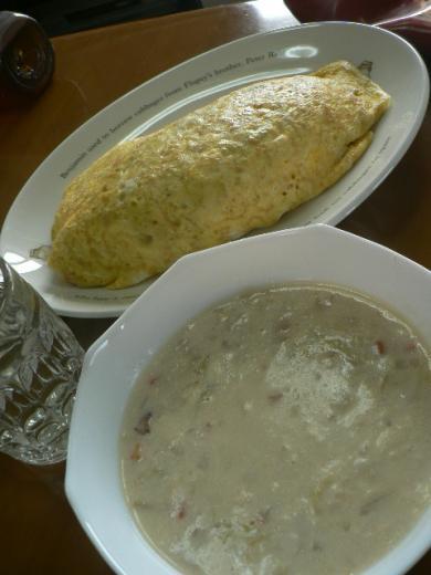 スープとオムライス