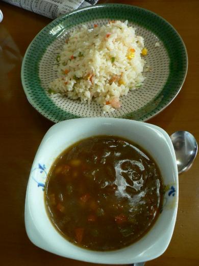 ピラフとスープ