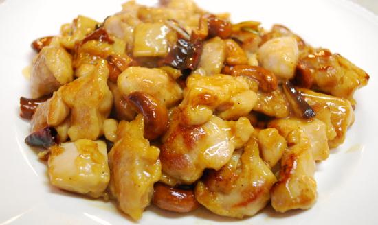 鶏肉とナッツの辛み炒め
