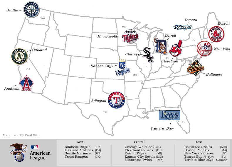 2012 メジャーリーグマップ