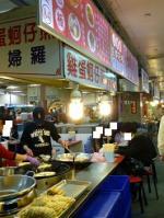 台湾旅行 2日目 士林夜市 美食街