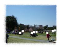 花の丘公園フリマ 中庭