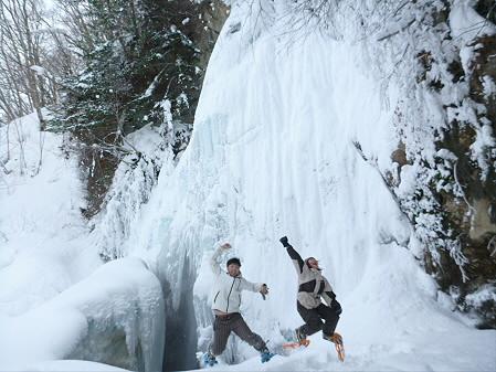 県民の森七滝氷瀑01(2013.1.30)ジャンプ!