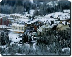 Beautiful tilt-shift video about the life of a ski village