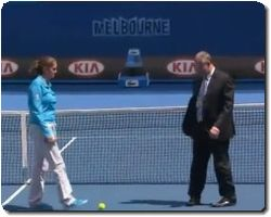 Australian Open 2011 Dead Spot on Court, Jan 21, 2011