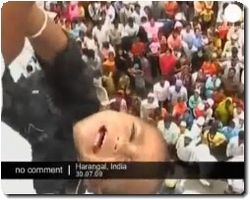 Baby throwing from roof in India