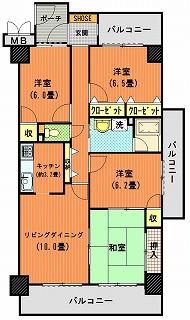 サーパス元町505間取り図改造