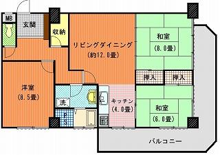 オオタニマンション402間取り図