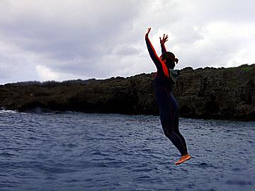 宮古島 中の島チャネル 飛び込み大会