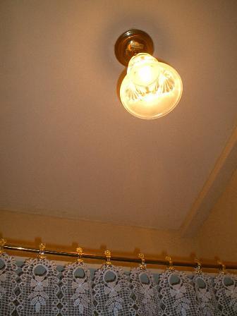 トイレのアンティーク照明