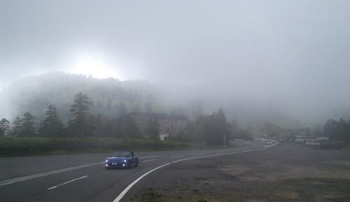 渋峠は雲の中(25.8.19)