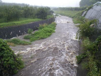 笹川と泡貝川合流点(25.8.23)
