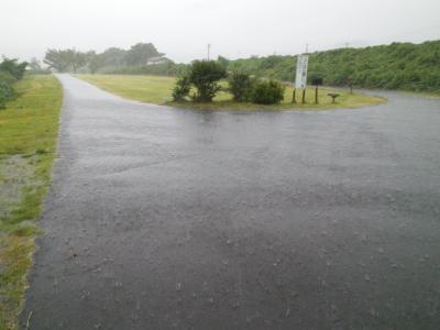 マレットゴルフ場も水びたし(25.8.23)