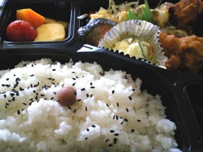 お昼はお弁当(25.10.5)