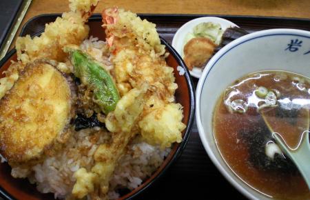 岩戸屋天丼大盛り(25.10.13)