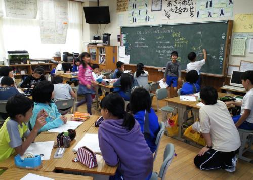 木島平小学校授業風景(25.10.23)