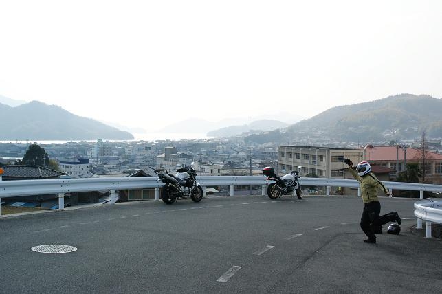 安浦の高台にて
