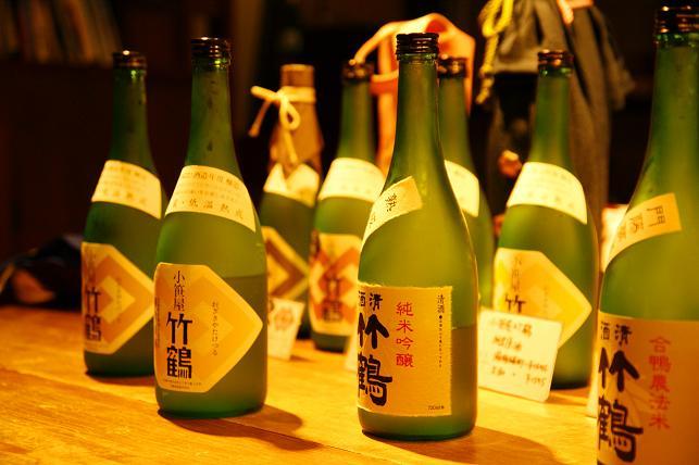 日本酒が並ぶ