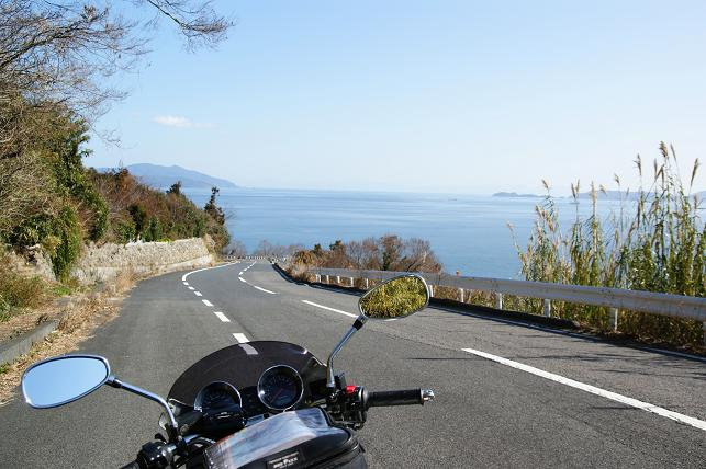 長島の南端付近にて