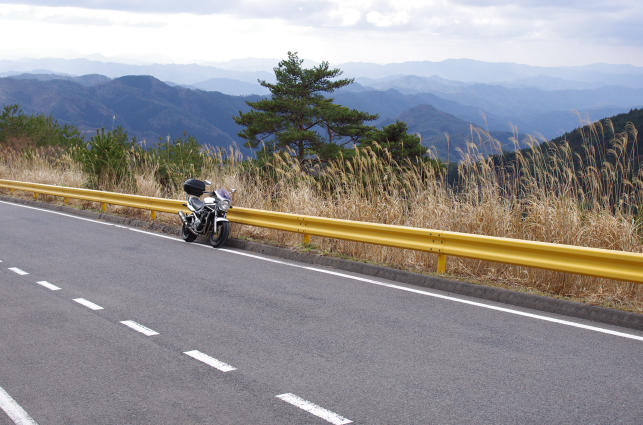 山口の山々を見渡す