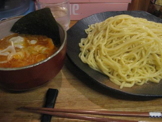 やすべえ 辛味みそつけ麺 水餃子、味玉+(1)