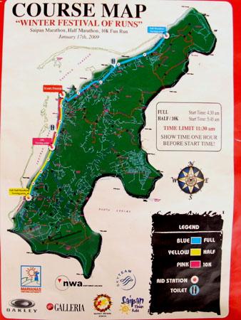 サイパンマラソン コースマップ