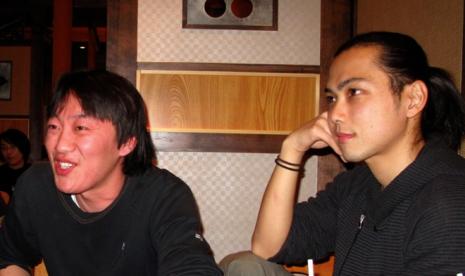 藤岡君とワタクシ。