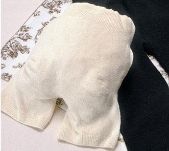 無縫製3分丈シルクパンツ(きなり)