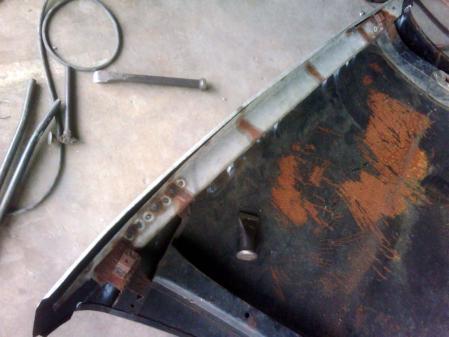 オールド メルセデス W189 300 ボンネット 修理