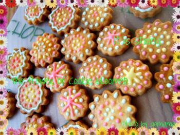 花模様クッキー