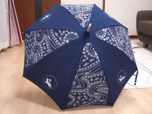藍染め日傘 完成!