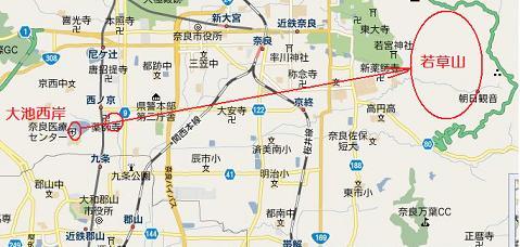 奈良・薬師寺地図