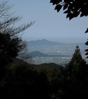御破裂山より奈良盆地方面