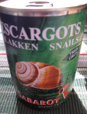 エスカルゴの缶詰