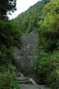 登山口最初の難関