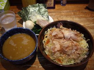 横浜家系豚骨正油極太麺 侍 つけ麺