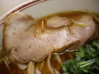 あぢとみ食堂 正油太麺(チャーシュー)