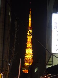 東京らあめんタワー近くの東京タワー