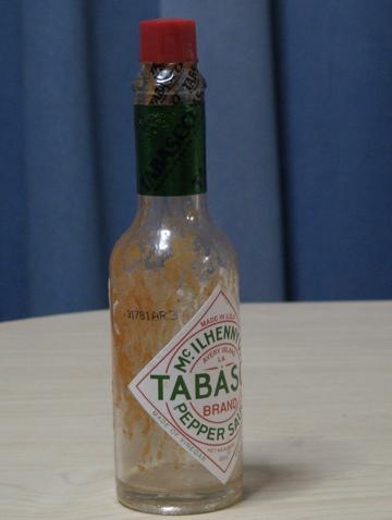 タバスコ空き瓶