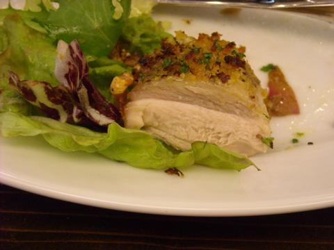 備中鶏の香草パン粉焼き