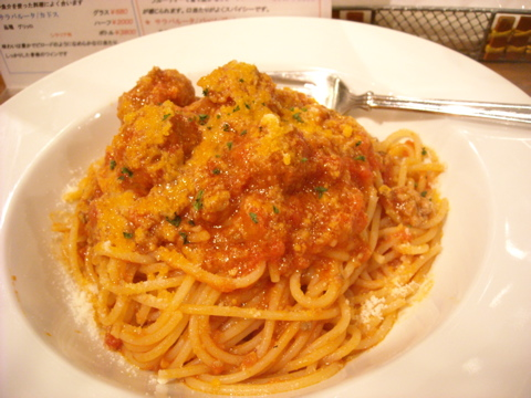 ポルペッテティーのスパゲッティ