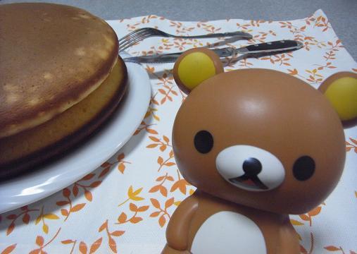 2012.1.21日常 くまくまホットケーキもどきw 3
