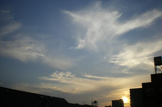 2012.2.2分 トラバ 夕焼け写真 1
